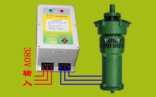 接线时,将主机的输入端输出端分别接电源380v